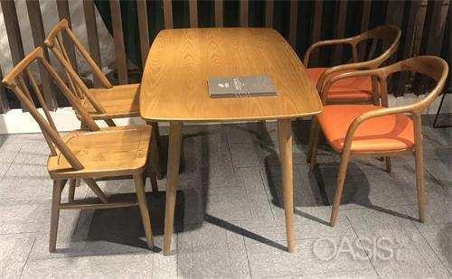现代简约休闲茶几_咖啡厅奶茶店休闲实木原木桌椅