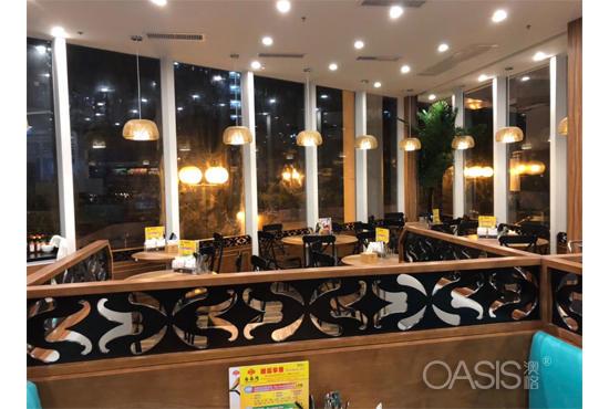 香港香叶湾茶餐厅桌椅定制工程案例