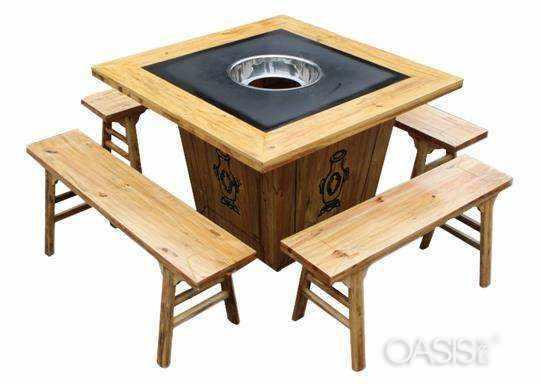 如何挑选时尚火锅店餐桌餐椅