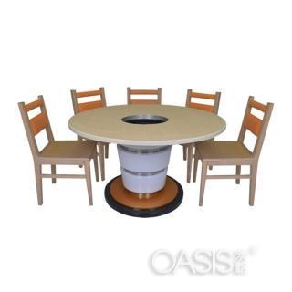 火锅圆桌椅子