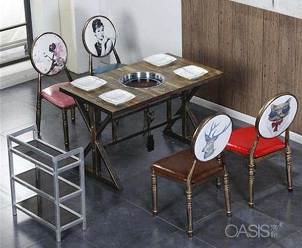 火锅店一套桌椅多少钱