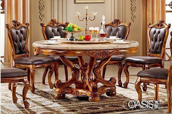 大理石西餐厅桌椅工程案例