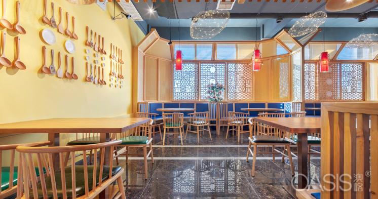 郑州65度粥餐饮家具设计案例