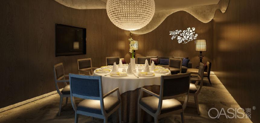 新人人中餐厅家具生产案例