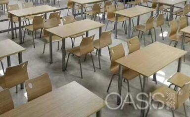 员工餐厅和食堂桌椅家具如何搭配舒适 餐饮家具