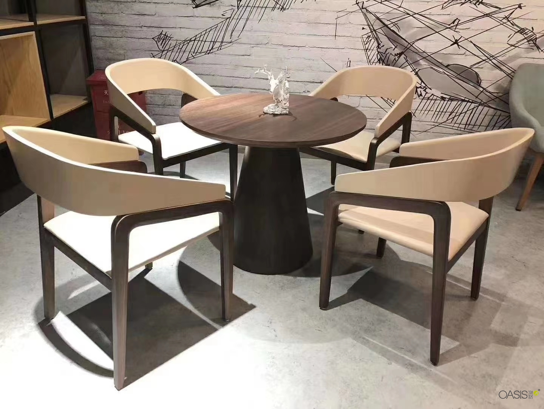咖啡厅实木桌椅带来的体验是不一样的|餐饮家具