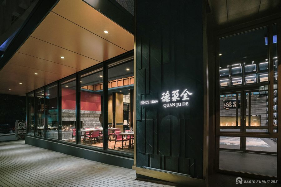 全聚德(温哥华店)主题餐厅家具定制工程案例