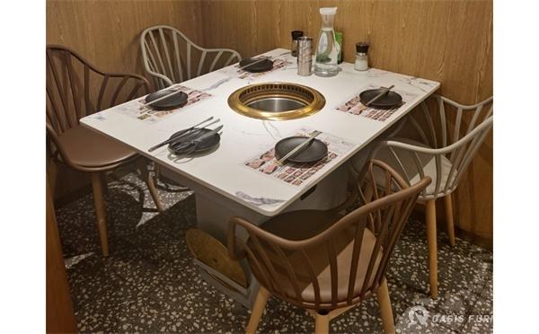餐饮家具韩式烤肉桌子用什么材质好?