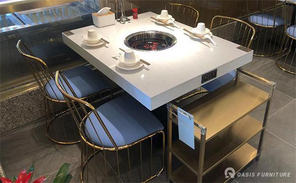 深圳餐饮桌椅火锅店桌子厂家如何定制火锅桌