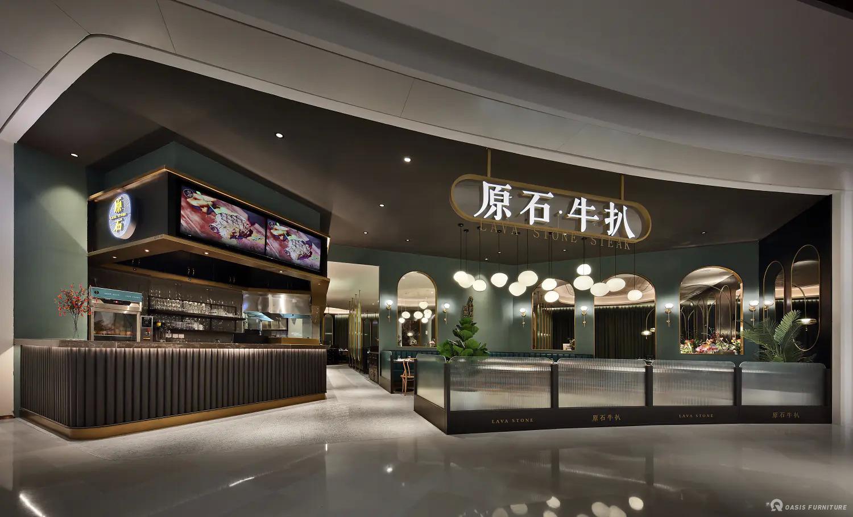 深圳西餐厅原石牛扒家具定制工程案例