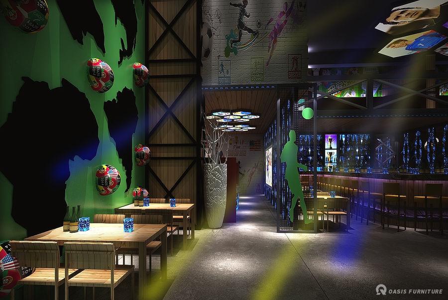 湖南小型酒吧装修家具定制工程案例