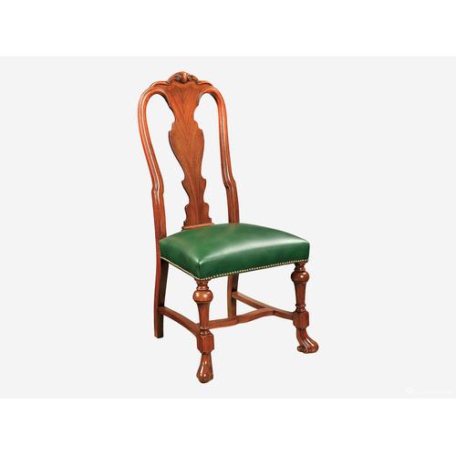 酒吧椅桃花心木皮椅子22