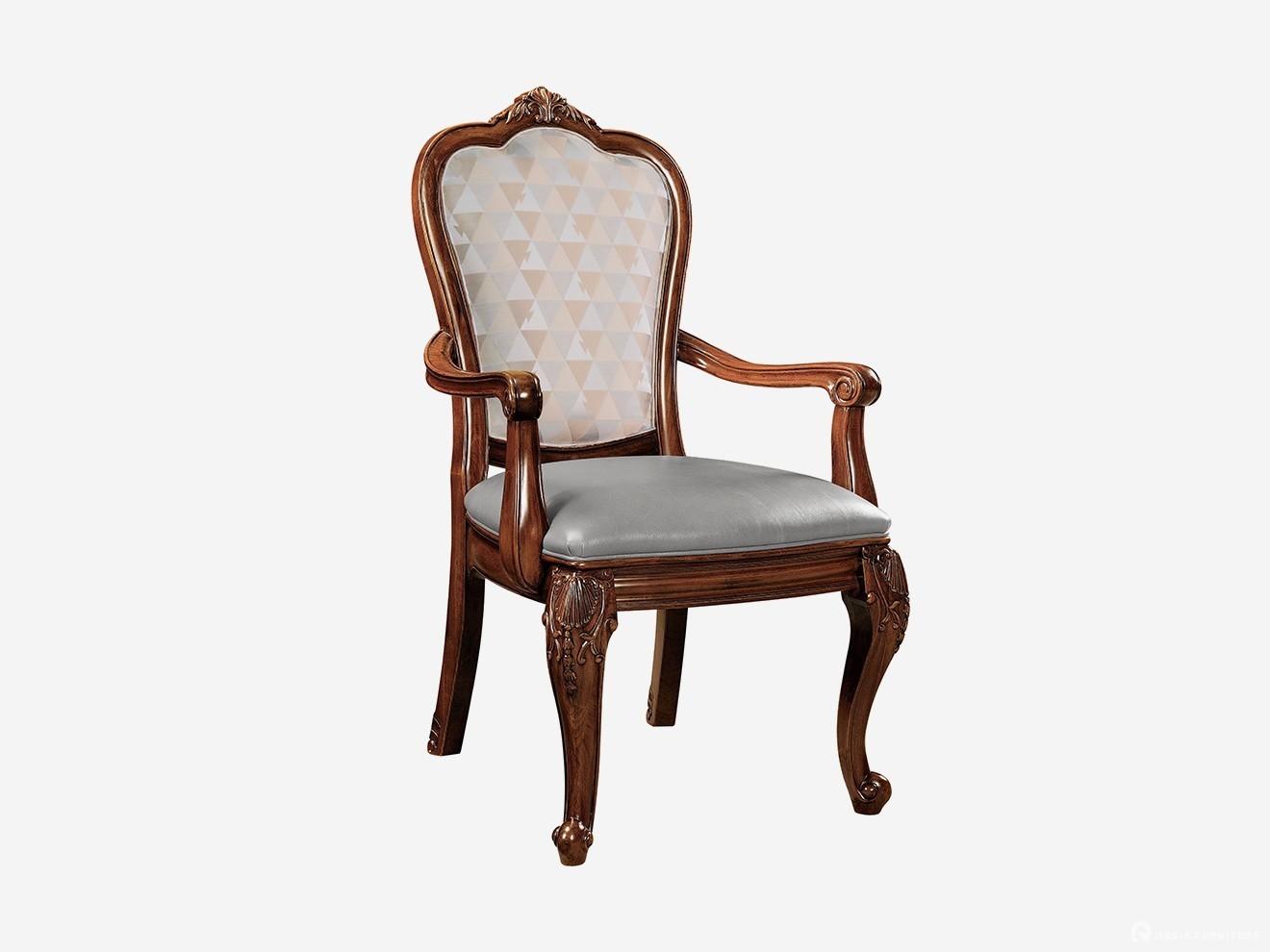 混纺布艺扶手餐椅249