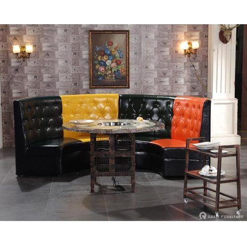 酒吧茶几新中式风火锅餐厅桌椅卡座